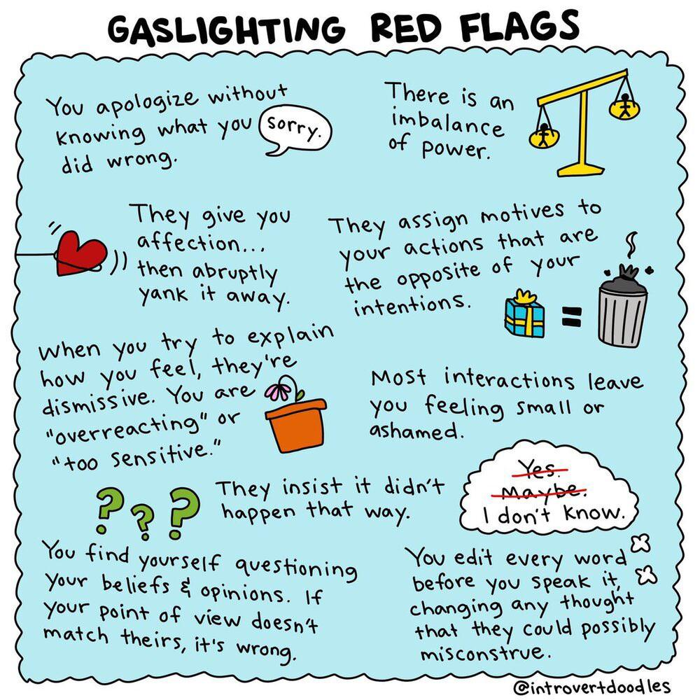 Opfer gaslighting Gaslighting: 6